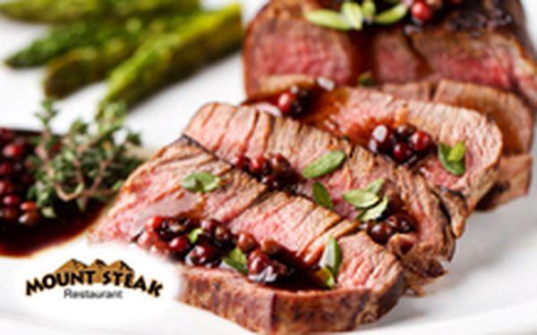 260 Kč místo 540 Kč - Exotika na tři způsoby! 2 x 200 g delikátní klokaní steak, tři druhy přípravy, včetně přílohy, se slevou 52 %. Exotika na talíři v restauraci pražských celebrit!