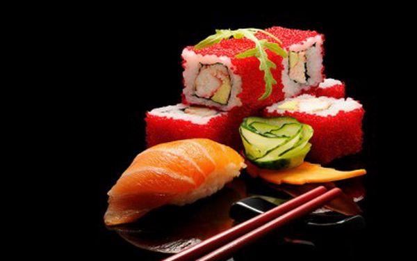 31 lahodných kousků sushi za 299 Kč s dovozem až k Vám domů jen za 70 Kč!