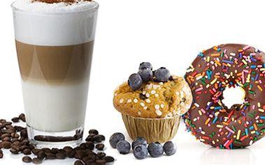 Káva + DONUT nebo MUFFIN. Oslaďte si život. Dejte si Latté, ochucené Latté, Capuccino či Espresso plus čokoládový donut nebo ochutnejte Muffin- borůvkový či čokoládový. Vychutnejte si dobrou kávu a dezert v Ústí.