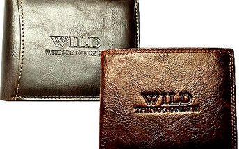 Pánská kožená peněženka WILD! Praktické přihrádky i na vizitky. Skvěle padne do kapsy!
