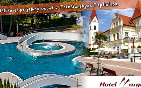 5 denní letní pobyt pro dvě osoby v hotelu Margit *** nyní za 6058 Kč. Nechte se hýčkat v centru lázní Trenčianské Teplice na Slovensku! Polopenze, masáž i každodenní vstup do venkovního bazénu Grand.