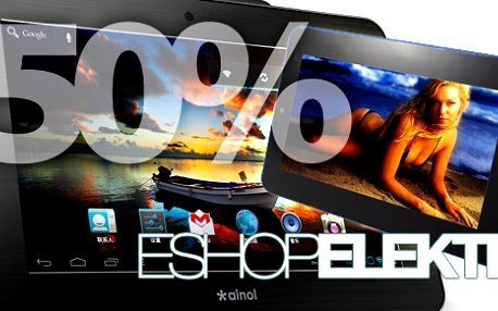 Nabízíme špičkovou elektroniku za výborné ceny! Kupte si voucher za 199 Kč a získejte až 50 % slevu třeba na tablet za 2400 Kč.