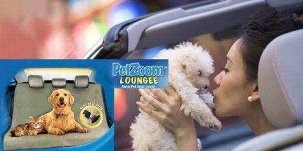 PET ZOOM LOUNGEE - nepromokavá deka pro psy do auta za senzačních 195 Kč! Chraňte sedadlo svého auta před ušpiněním se slevou!