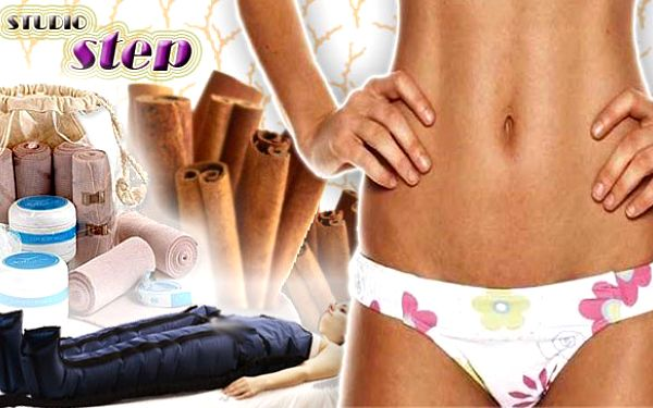 Neinvazivní 30 minutová liposukce, lymfodrenáž v délce 35 minut a skořicový zábal proti celulitidě.