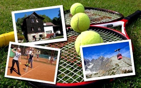 Aktivní dovolená vJIZERSKÝCH HORÁCH s výukou TENISU. Týdení pobyt s plnou penzí a 15 hodin tenisu!