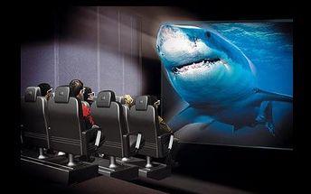 Lístky do unikátního 5D kina! Zažijte dinosaury, hlubiny oceánů či divokou jízdu pralese!