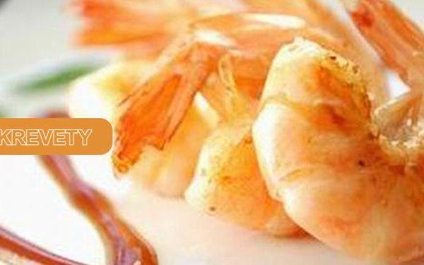 30 kusů tygřích krevet připravovaných na 4 delikátní způsoby se 3 omáčkamiDopřejte si luxusní gurmánský zážiteks 50% slevou!!!