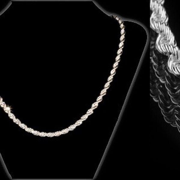 Luxusní točitý náhrdelník potažený kvalitním stříbrem o délce 49 cm, který je ideální pro zvláštní i běžnou příležitost se slevou 72% za 199 Kč! Poštovné pouze 25 Kč!
