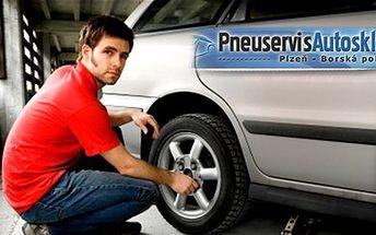 Jen 349 Kč za kompletní přezutí pneumatik VČETNĚ VYVÁŽENÍ se slevou 61% v pneuservisu v Plzni na Borech. Moderní autoservis, snadná dostupnost a profesionální služby!