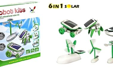 129 Kč za solární stavebnici robota SolarKit 6v1.
