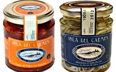 2 kusy španělských specialit! Vychutnejte si originální mořské plody značky Isla del Carmen!