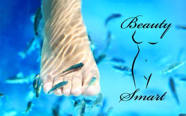 Relaxační koupel nohou s rybkami Garra Rufa v délce 20 minut – oblíbený Salon Beauty Smart v centru Prahy