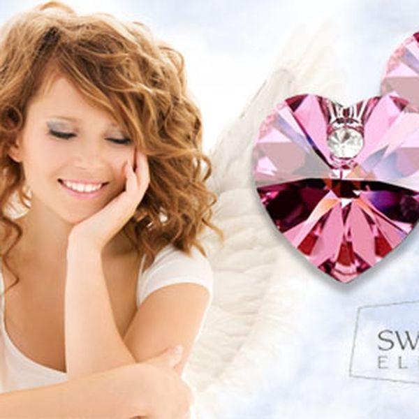 """Nádherné naušnice """"Andílkovo srdíčko"""" Swarovski elements za pouhých 159 Kč s HyperSlevou 60 % pro podtržení krásy ženy a ideální způsob vyjádření lásky!"""