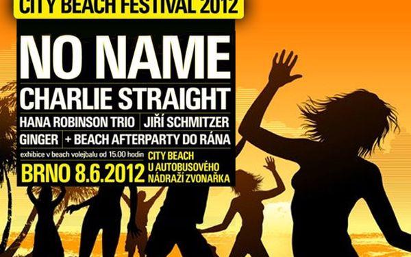 Sleva 50% na letní zábavu v Brně! Využijte zvýhodněnou cenu vstupenky z původních 420 Kč na neskutečných 210 Kč! City Beach Festival 2012 s No Name, Charlie Straight, Jiřím Schmitzerem a dalšími.
