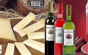 Španělské gurmánské balíčky - víno, salám, sýry
