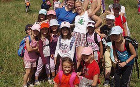 """Letní 7denní dětské tábory """"Oříšek"""" vCHKO Šumava! Tábor skoňmi, se čtyřkolkami či kombinovaný +vždy PESTRÝ PROGRAM"""