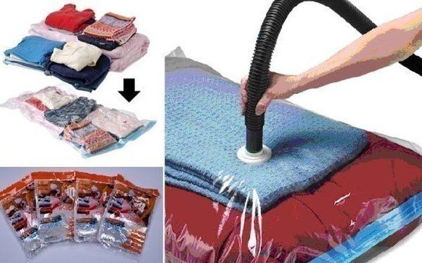 5 x vakuové pytle pro praktické uklizení prádla a ušetření místa až o 75%