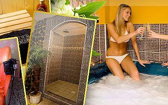 KRÁLOVSKÁ RELAXACE ve wellness centru Cleopatra s láhví sektu!! 1,5 hodiny pro 2 osoby s 45% slevou jen za 720 korun!! Užívat si můžete saunu, vířivku, moderní masážní křeslo a sprchu!! Překvapte partnera příjemným dárkem!! Ušetřete s námi 595 korun!!