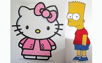 Potěšte své děti a nechte jim namalovat na zeď některou z oblíbených dětských postav. Vyberte si lvího krále Simbu, roztomilou Hello Kitty nebo nezbedníka Barta Simpsona.