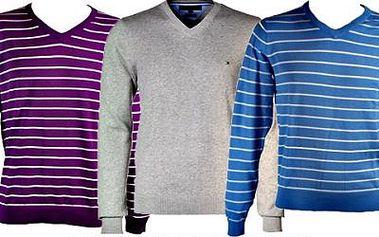 Značkový svetr Tommy Hilfiger! Různé barvy a pruhy v luxusních návrzích vám padnou jedna báseň!
