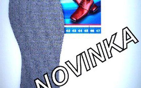 2 páry ANTIBAKTERIÁLNÍCH vložek do obuvi. Skvěle odvádí tělesnou vlhkost, dostupné ve všech velikostech a cena včetně poštovného