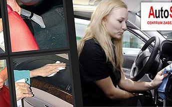 PROFESIONÁLNÍ ČIŠTĚNÍ INTERIÉRU AUTA MOKROU CESTOU, pro osobní auta včetně jeepů za 699 Kč, pro dodávky za 799 Kč!! Tepování sedaček, koberečků i kufru, čištění plastových částí a skel se slevou 53%!!