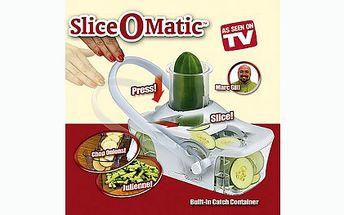 Skvělý kráječ zeleniny a ovoce na vaše párty za 249 Kč!! S přístrojem Slice O Matic nakrájíte plátky ovoce, nebo zelniny během pár vteřin a to vše bez námahy.