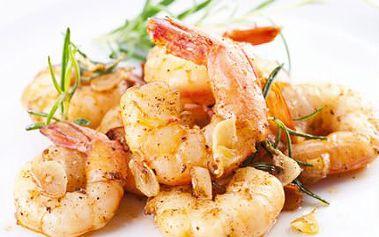 Luxusní večeře z tygřích krevet! Pochutnejte si ve známé restauraci. Vaří špičkoví šéfkuchaři!