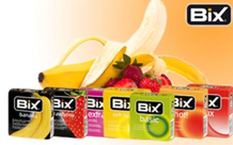 280 Kč místo 561 Kč - Vybavte se na vášnivé léto! 72 ks kondomů BiX - klasické, vroubkované, hřejivé, s ovocnými příchutěmi, se slevou 50 %. Poštovné v ceně, diskrétní balení!