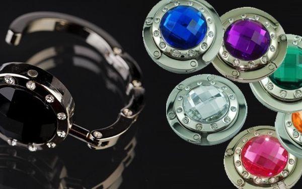 Luxusní háček na kabelku v 7 elegantních barvách - ideální řešení Vám umožní mít kabelku vždy po ruce a vždy bezpečně na Vašich očích!