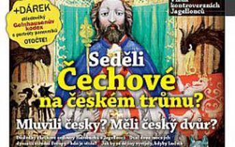 Seděli češi na českém trůnu? + dárek: vzácný středověký gelnhausenův kodex s portréty českých panovníků! + 132 stran v letním speciálu živé historie tajné dějiny náboženství