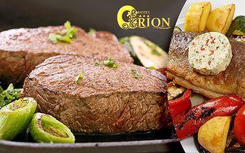 Steaky z hovězí svíčkové nebo pstruzi pro 2 osoby
