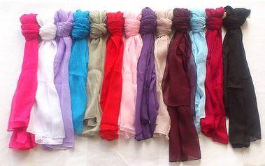 149 Kč za krásný pašmínový šátek, s neuvěřitelnou 78% slevou! Luxusní šátek, který dodá šmrnc každému oblečení, na výběr celkem 13 barev!