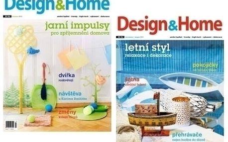 Roční předplatné časopisu Design&Home. V rámci předplatného volné vstupenky na výstavy a veletrhy o bydlení.