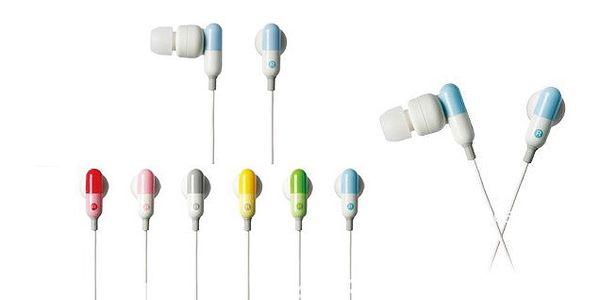 LUXUSNÍ stylová pohodlná sluchátka do uší s gumovým zakončením ve tvaru pilulky pro kvalitní poslech hudby!