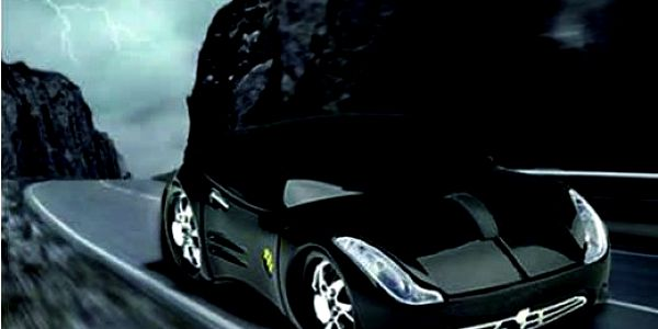 SLEVA -67%!! Luxusní černá USB myš ve tvaru auta!! Splňte si svůj malý sen jen za 199 Kč! To bude jízda!!