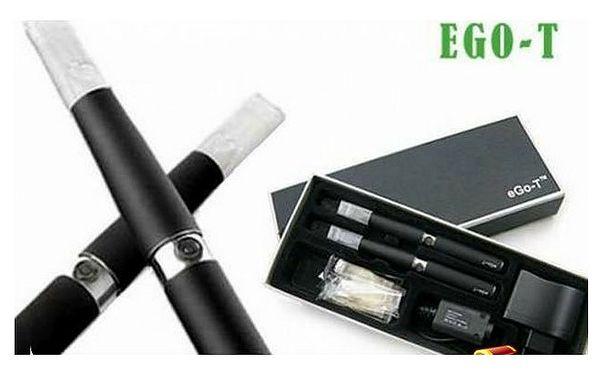 2ks e cigarety Ego-T 1100 mAh nejlevněji v ČR jen za 479 Kč! 5 x plná cartridge v ceně!!! Kuřte zdravěji se slevou 66%!!!
