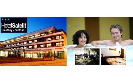 Prožijte léto ve slunečních Piešťanech! Relaxační pobyt pro 2 s polopenzí a wellness v hotelu Satelit*** v srdci lá...