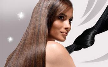 Prodloužení vlasů o 75 - 100 pramenů délky 40cm nejšetrnější metodou kreatinem za tepla.