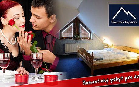 Romanticky laděný pobyt pro DVA v Nízkých Tatrách jen za 2938 Kč. Užijte si 3 denní pobyt v útulném penzionu Teplička s polopenzí, romantickou večeří, masážemi, saunou a překvapením opravdu za méně.