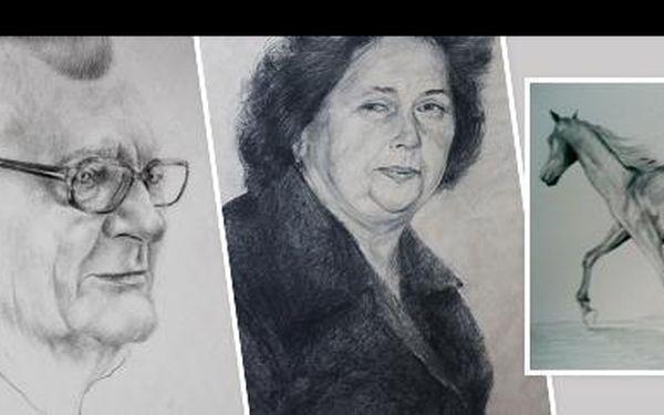 Nechte se zvěčnit od akademické malířky jen za 299 Kč! Černobílý portrét o rozměru A3 vás, vašich blízkých či domácích mazlíčků! Sleva 79 %!