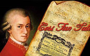 Wolfgang Amadeus Mozart - COSI FAN TUTTE. Představení, které se uskuteční v rámci Evropské hudební akademie 2012 od 19:00 hod. ve dnech 25.7., 26.7., 29.7. a 30.7.2012 nyní jen za 60 Kč!