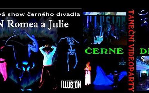 """396 Kč za jedinečné představení Sen Romea a Julie v """"černém divadle"""" Black Light Theatre. Vyrazte ve dvou nejznámější zamilovanou dvojici."""