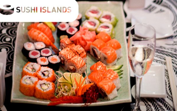 Sushi menu PRO DVA jen za 395 Kč! 48 ks sushi v SUSHI ISLANDS v centru Prahy!