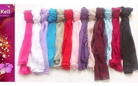 Lehký pašmínový šátek nejen na dovolenou..