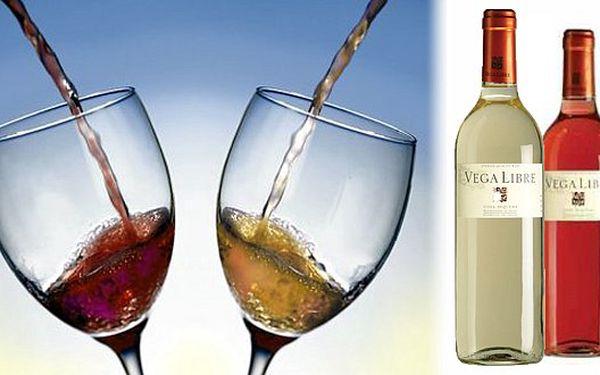 99 Kč za láhev vína VEGA LIBRE BLANCO 2011 a láhev Vega Libre rosando 2011 ZDARMA! Vychutnejte si pravé letní osvěžení!