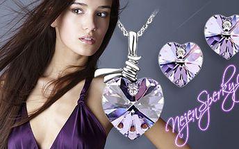 189 Kč za elegantní set náušnic a náhrdelníku od Swarovski Elements. Čtyři krásná, barevná provedení a slušivý tvar srdce nejen pro romantické ženy. HyperSleva 73 %.