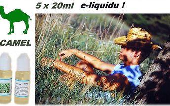 5x20ml e-liquidu CAMEL 11mg pro e-cigarety