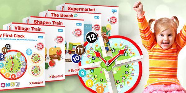 Zábavné a vzdělávací hračky Scotchi pro děti od tří let