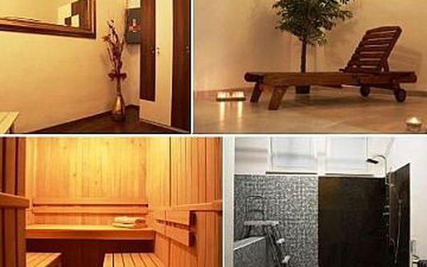 60 min LUXUSNÍ PRIVÁTNÍ SAUNY nebo PARNÍ KOMORY až pro 3 osoby, ochlazovací bazén, sprcha a relaxační místnost s hudbou.